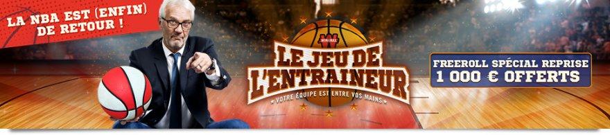 Jeu de l'Entraîneur NBA et Semaine des Grilles : double ration de promos sur Winamax