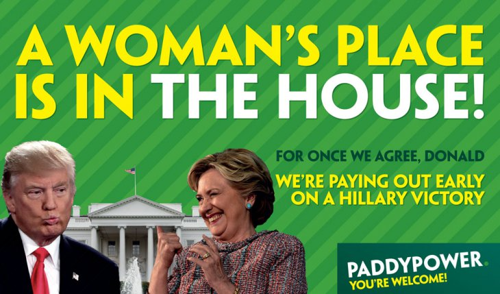 Trump vs Clinton : Paddy Power s'offre un joli coup de pub